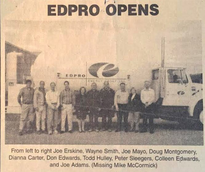 EDPRO Opens Newspaper Story